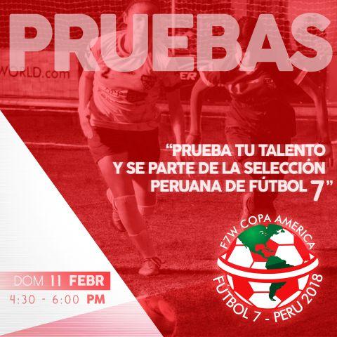 Convocatoria Abierta – Selección Peruana F7